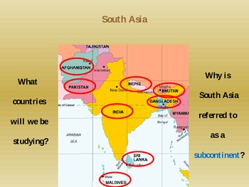 South Asian History PowerPoint