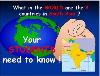 South Asian Map Activities