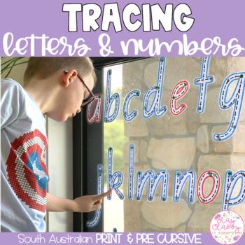 South Australian Print Write & Wipe Alphabet and Numbers Set
