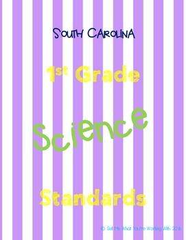 South Carolina 1st Grade Science Standards