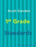 South Carolina 1st Grade Standards BUNDLE