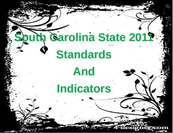 South Carolina 2011 State Standard Cards_6th Grade