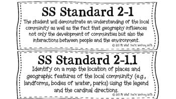 South Carolina 2nd Grade Social Studies (SS) Standards