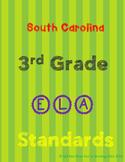 South Carolina 3rd Grade English (ELA) Standards