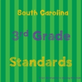 South Carolina 3rd Grade Standards BUNDLE