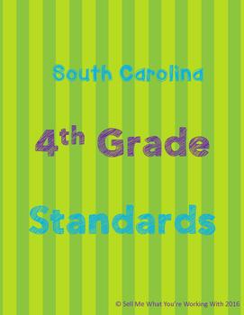 South Carolina 4th Grade Standards BUNDLE