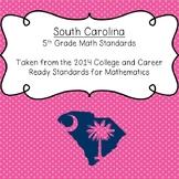 South Carolina 5th Grade Math Standards