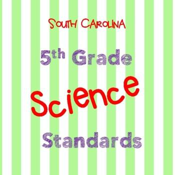 South Carolina 5th Grade Science Standards