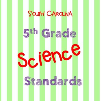 South Carolina 5th Grade Science Standards