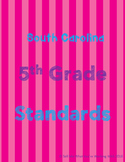 South Carolina 5th Grade Standards BUNDLE