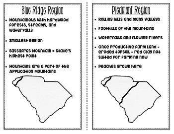 South Carolina 6 Regions, River Systems, and Major Cities Anchor Charts