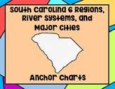 South Carolina 6 Regions, River Systems, and Major Cities