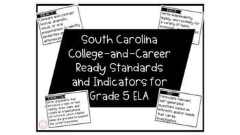 South Carolina Academic Standards Grade 5 | Standards Cards BUNDLE