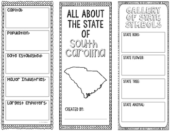 South Carolina - State Research Project - Interactive Notebook - Mini Book
