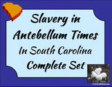 South Carolina - Antebellum Slavery Complete Set 3-4.2