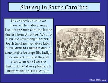 South Carolina - Antebellum Slavery Presentation 3-4.2