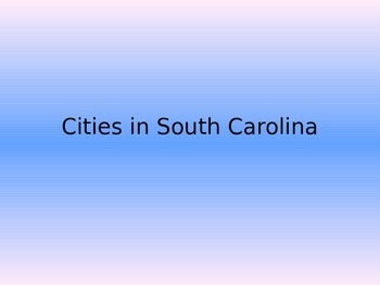South Carolina Cities Powerpoint