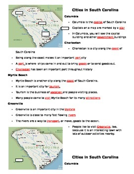 South Carolina Cities Powerpoint Notes