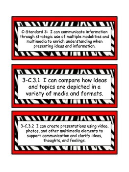 South Carolina College and Career Ready Standards for Communication 3rd grade