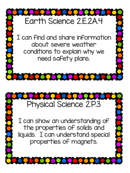 South Carolina College and Career Standards- 2nd Grade Science and SS