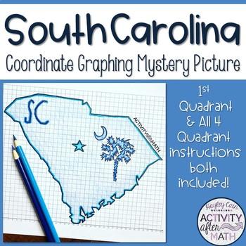 South Carolina Coordinate Graphing Picture 1st Quadrant & ALL 4 Quadrants