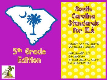 South Carolina ELA Standards 5th Grade