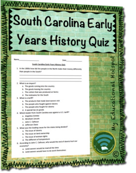 South Carolina Early Years History Assessment
