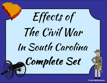 South Carolina - Effects of the Civil War Complete Set 3-4.5