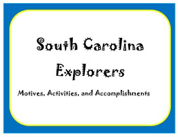 South Carolina Explorers Article, Notes, and Quiz