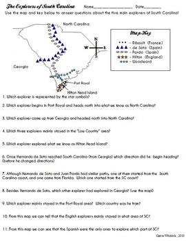 South Carolina - Explorers of SC Complete Set 3-2.2