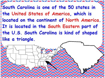 South Carolina Features, Landforms, and Bodies of Water