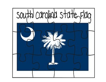 South Carolina Flag Puzzle