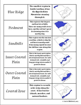 South Carolina - Geographic Regions Assessments, Display & Vocabulary 3-1.1