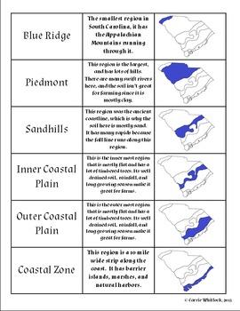 South Carolina -Geographic Regions Complete Set 3-1.1