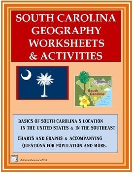 SOUTH CAROLINA Geography, Population Charts, Latitude & Longitude