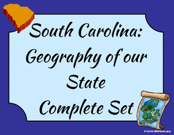 South Carolina - Geography of our State Complete Set 3-1.2