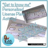 South Carolina Get to Know Me License Plate Activity