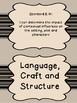 South Carolina Grade 7 English Language Arts I Can Statement Posters