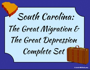 South Carolina - Great Migration & Great Depression Comple
