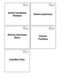 South Carolina History - 8-2.4 - Role Card Sort Activity
