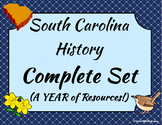 South Carolina History Complete Set - Entire Year of Lessons - Bundle