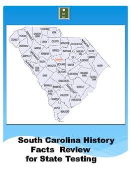 South Carolina History Cummulative Facts Review