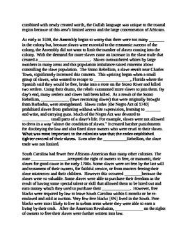 South Carolina History - Partner Read - 8-1.4