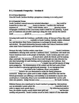 South Carolina History - Partner Read - 8-1.5