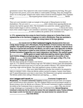 South Carolina History - Partner Read - 8-2.2