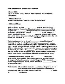 South Carolina History - Partner Read - 8-2.3