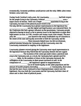 South Carolina History - Partner Read - 8-3.1