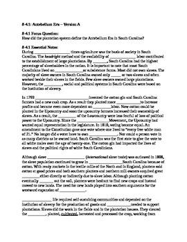 South Carolina History - Partner Read - 8-4.1