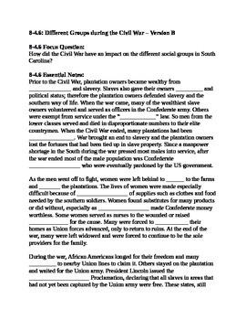 South Carolina History - Partner Read - 8-4.6