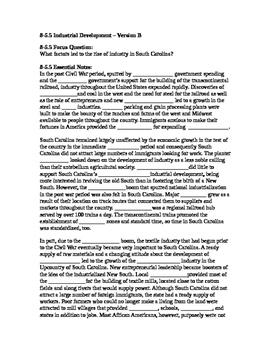 South Carolina History - Partner Read - 8-5.5